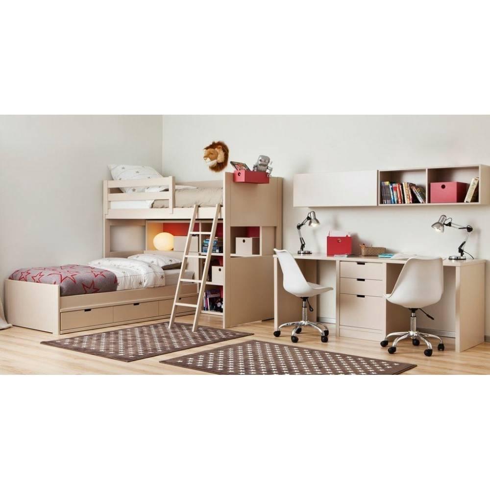 Lit mezzanine enfant avec etagere design biblioth que for Muebles asoral