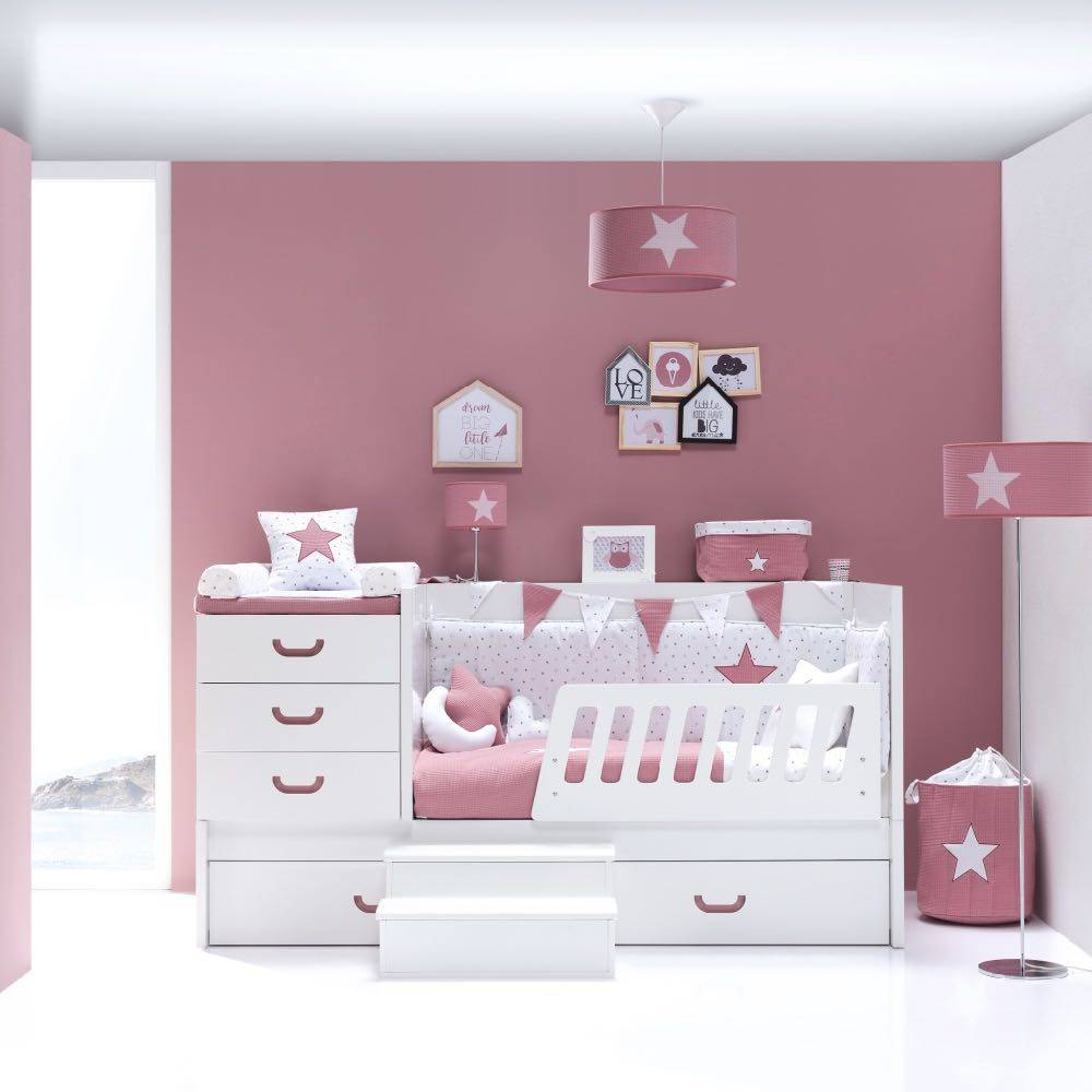lit combin volutif b b sero joy en bois. Black Bedroom Furniture Sets. Home Design Ideas