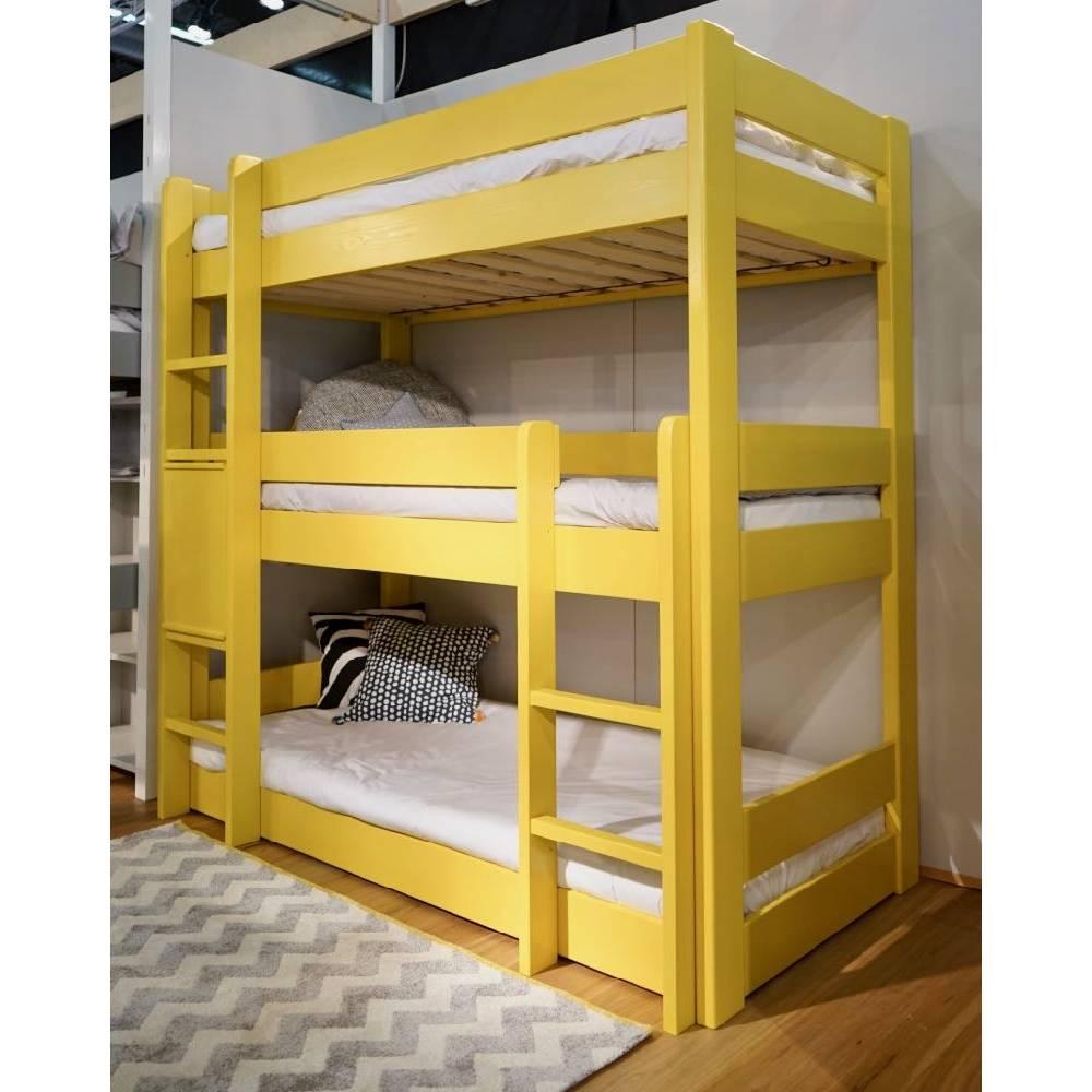 Lit Superposé 3 Étages city : lit superposés enfant triple étage sécurisé