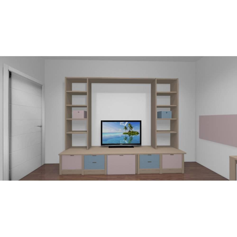 biblioth que diane sur mesure. Black Bedroom Furniture Sets. Home Design Ideas
