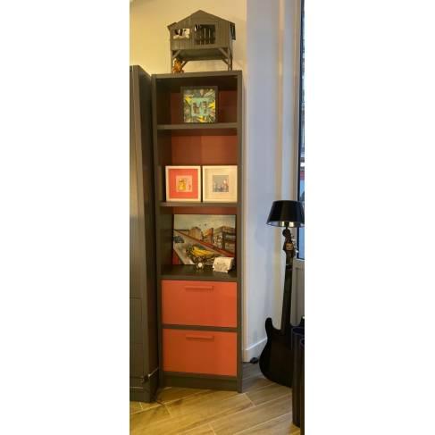 Modèle d'expo : bibliothèque Diane haute double avec 2 caissons