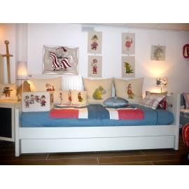 Modèle d'expo : lit Max avec tiroir gigogne en Greige
