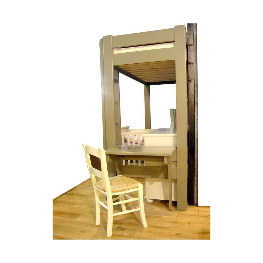 lit mezzanine enfant bois avec bureau design. Black Bedroom Furniture Sets. Home Design Ideas