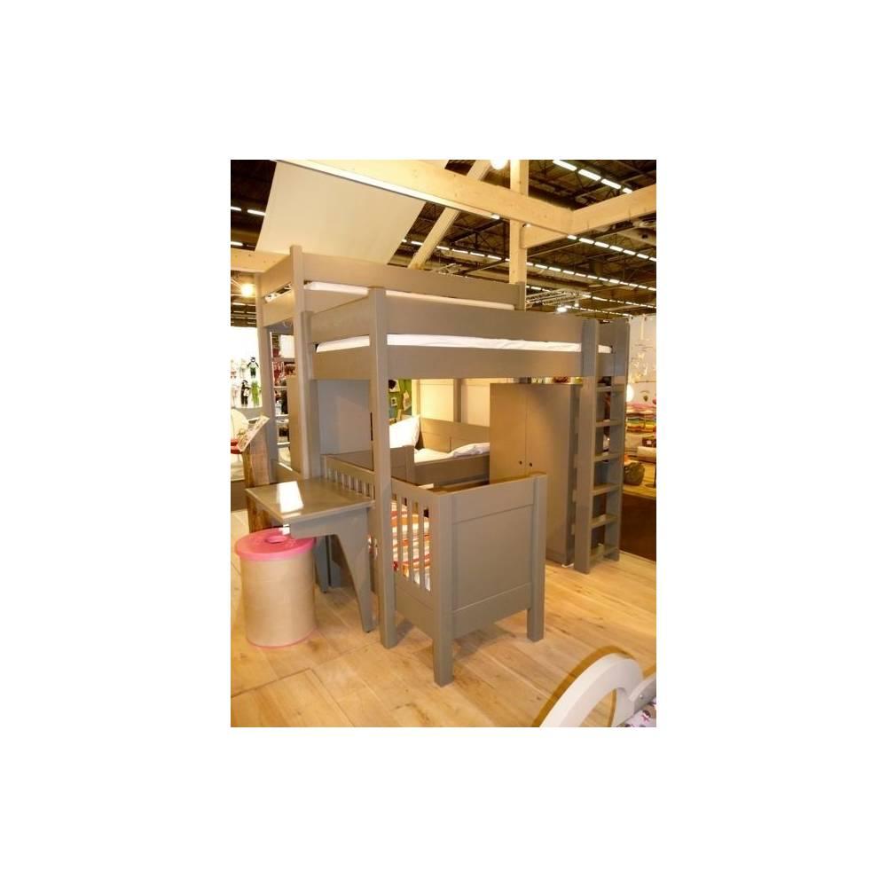 Lit loft mezzanine id es de design d 39 int rieur - Zen forest house seulement pour cette maison en bois ...