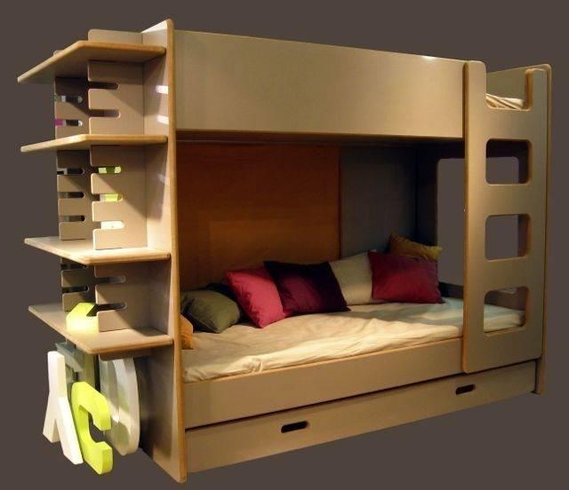 lits superpos s david avec bureau en bois pour les enfants. Black Bedroom Furniture Sets. Home Design Ideas
