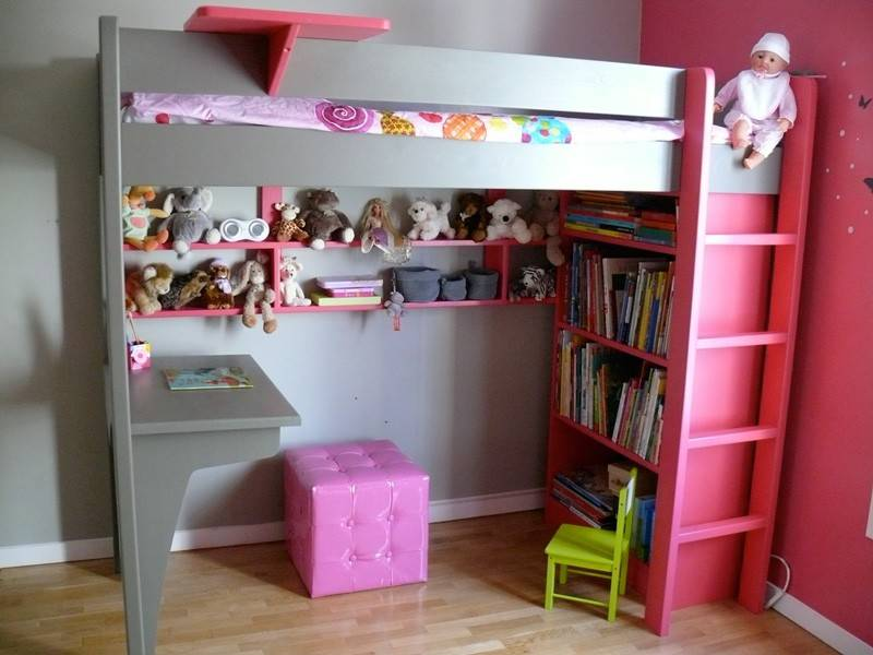 Chambre pour fille mezzanine for Photo lit mezzanine