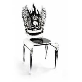 Chaise Tête de mort Rock