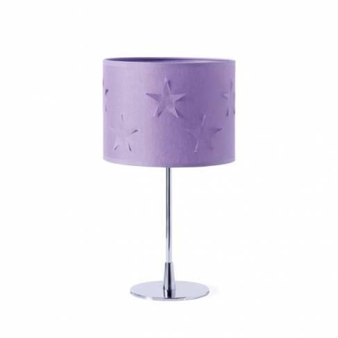 Lampe de chevet avec étoiles decoupées