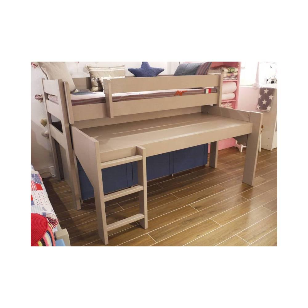 Lit enfant mezzanine sureleve gigogne accueil design et mobilier - Lit mezzanine pour studio ...