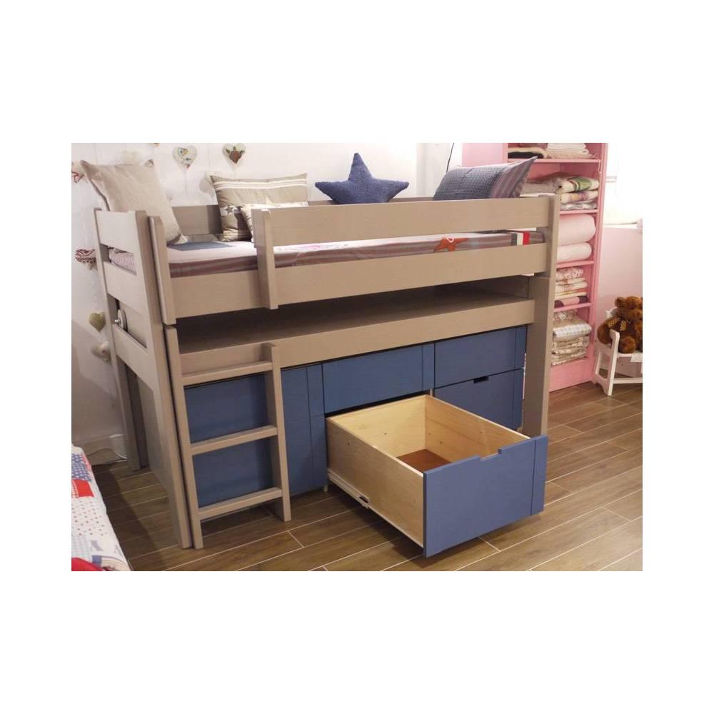 lit enfant mezzanine sureleve gigogne accueil design et. Black Bedroom Furniture Sets. Home Design Ideas