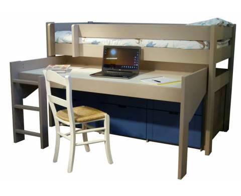 Lit mezzanine pour la chambre de votre enfant lit et meubles adolescent - Cabine armadio mercatone uno ...