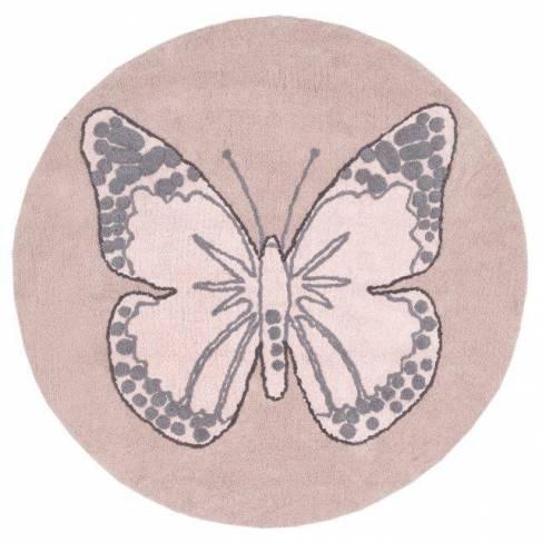 Tapis Rond Papillon