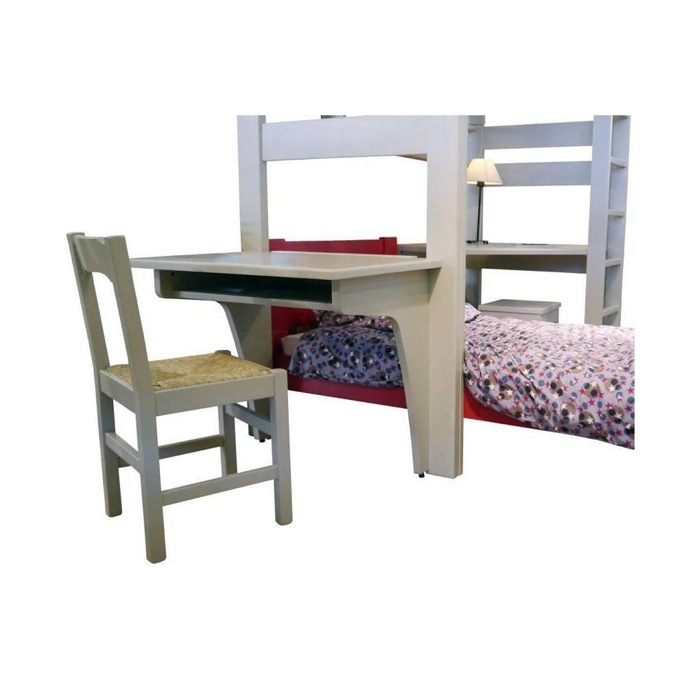 Lit mezzanine enfant avec bureau int gr en bois - Lit mezzanine avec bureau integre ...