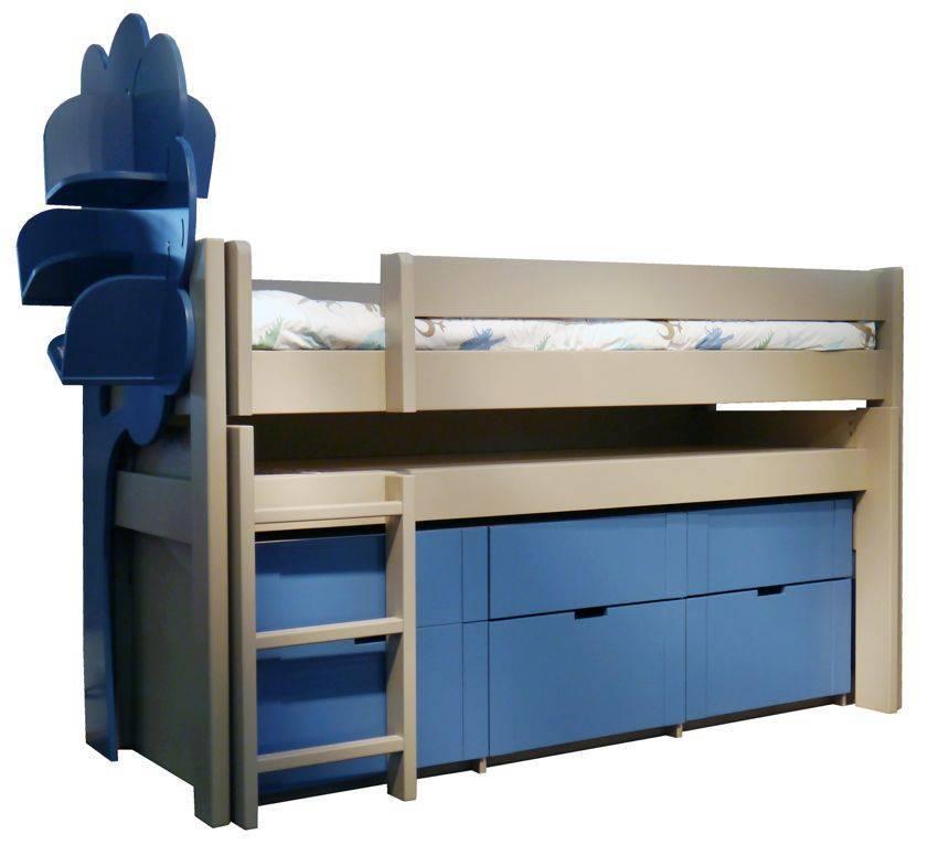 Lit mezzanine pour la chambre de votre enfant lit et - Letto con scrivania ...