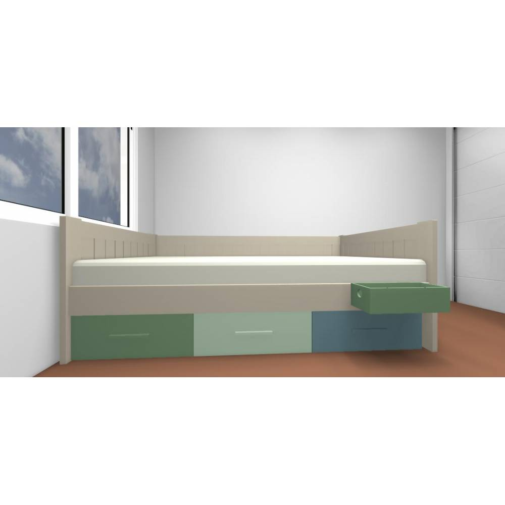 Lit superpose banquette maison design for Lit 80x190 ikea