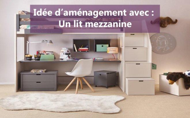 amenagement lit mezzanine. Black Bedroom Furniture Sets. Home Design Ideas