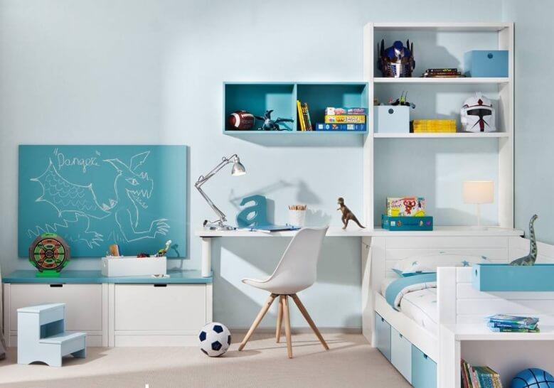 Bibliothèque Diane coloris bleu