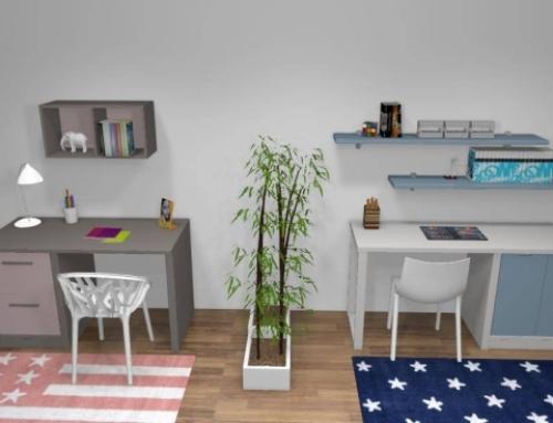 Bureau enfant moderne, pour une chambre contemporaine et bien équipée