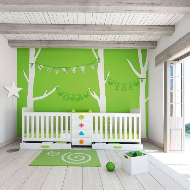 lit bébé jumeaux chambre