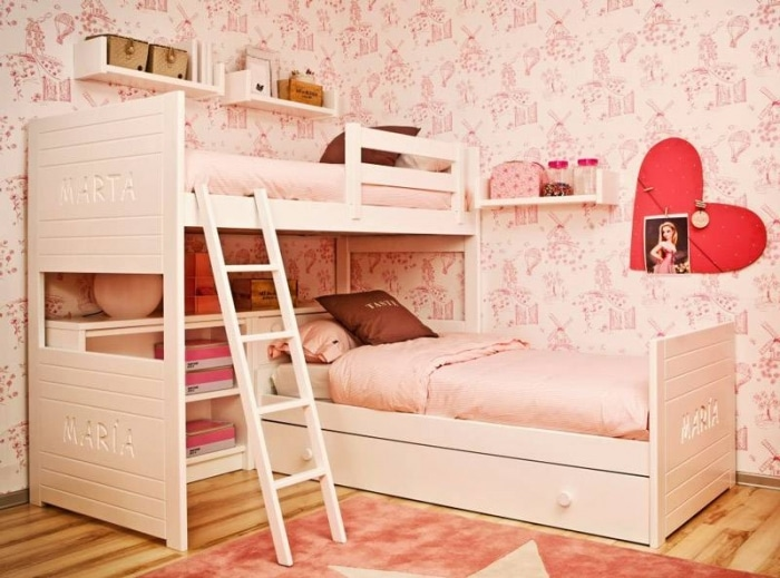 une chambre de fille stickers chambre bebe fille belgique inspiration chambre fille moderne dco. Black Bedroom Furniture Sets. Home Design Ideas