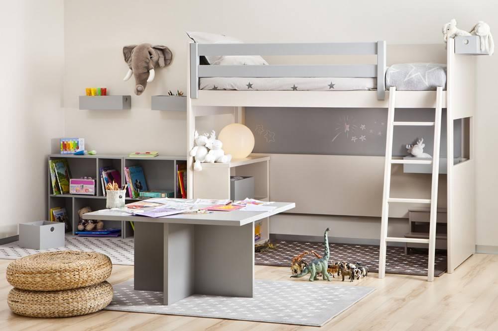 combinaison de bureau gagner de la place dans une chambre d 39 enfant. Black Bedroom Furniture Sets. Home Design Ideas