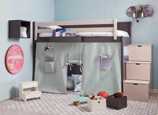 lit mezzanine chambre enfant