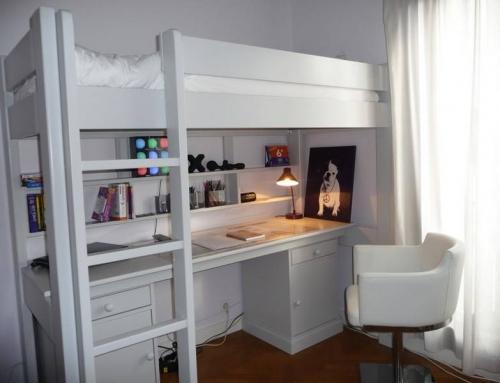 Le lit combiné blanc, une petite formule magique
