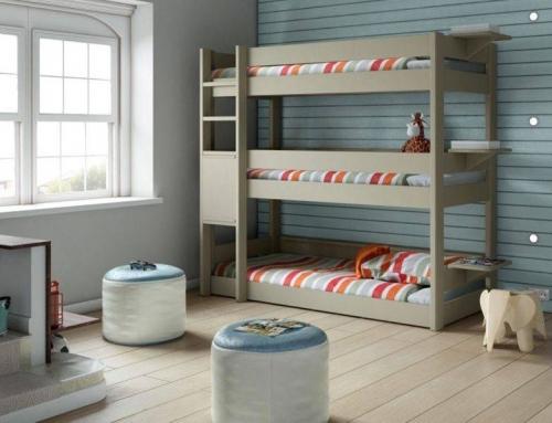 Le lit superposé taupe, pratique et élégant