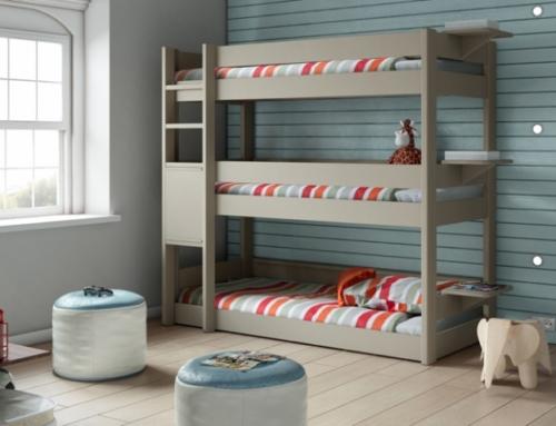 Optimiser les espaces disponibles avec les lits superposés 3 places Anders