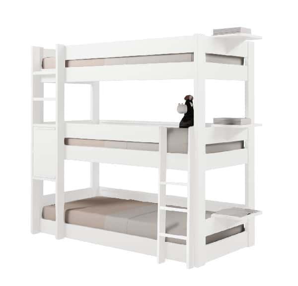 le lit superpos triple un meuble astucieux meuble. Black Bedroom Furniture Sets. Home Design Ideas