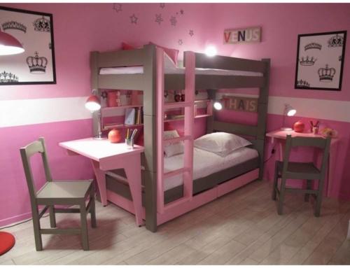 Le lit superposé rose : pour une chambre fille idéale