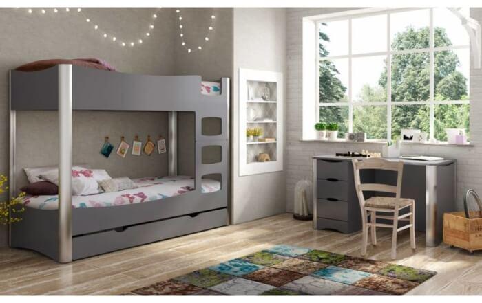 Meuble pour enfants et adolescents -lits-superposes-fusion