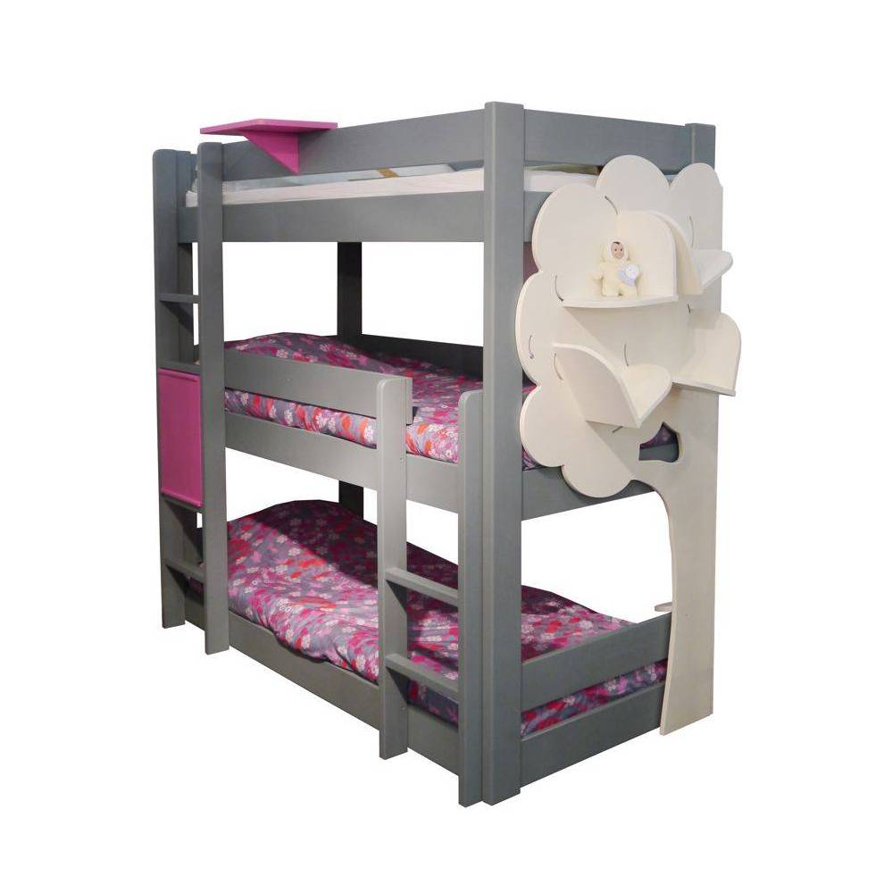 le lit superpos triple un meuble astucieux meuble pour enfants. Black Bedroom Furniture Sets. Home Design Ideas
