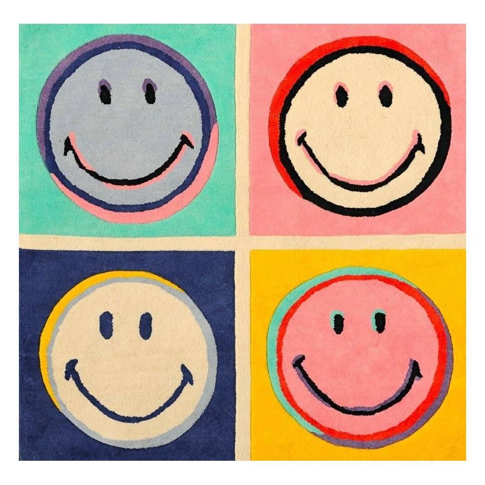 tapis smiley et muticolor