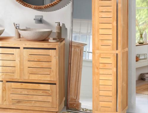 Conseils d'entretien pour un meuble de salle de bain en teck