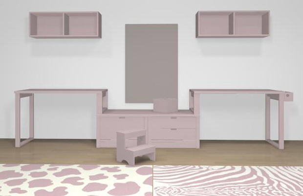 Conception 3D bureau double Himalaya