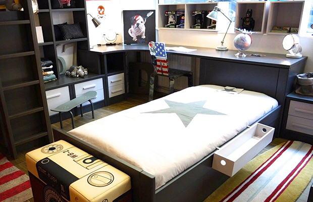 Chambre avec bureau Atlas sur mesure