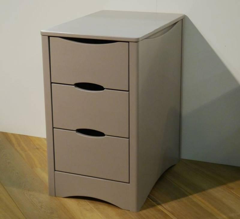Caisson Fusion - Bloc 3 tiroirs - dimensions : largeur 45 x prof. 66 (comme le bureau) x h. 76 cm