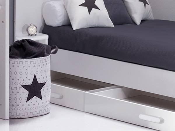 Petit tiroir de rangement sous lit enfant