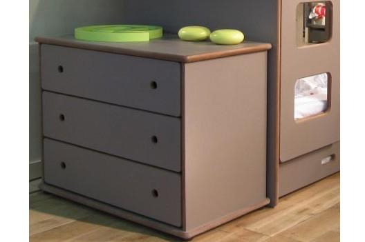 Commode à 3 tiroirs, largeur 99 x profondeur 55 x Hauteur 75 cm
