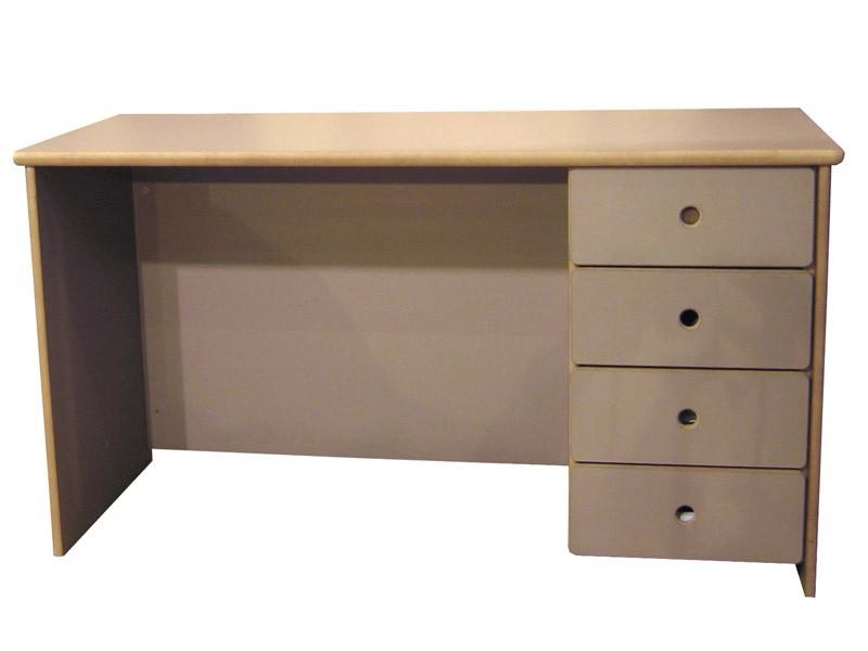 Caisson 4 tiroirs à droite (L. 39 x P. 47 x H. 67 cm) - uniquement pour bureau B ou C