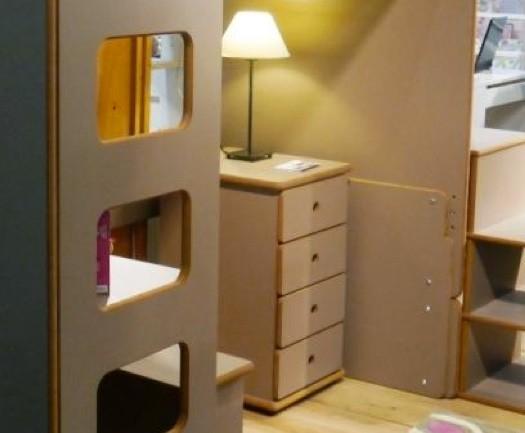 Chevet à 4 tiroirs, largeur 55 x profondeur 45 x hauteur 74 cm