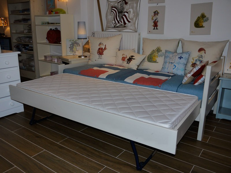 Tiroir-lit gigogne (qui remonte sur pieds) fermé sur les 3 côtés - uniquement pour lit en 200 cm