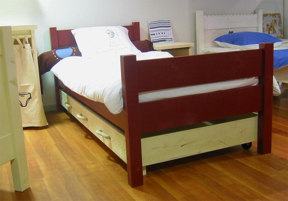 Pieds de lit haut - 2 barres, hauteur 71 cm