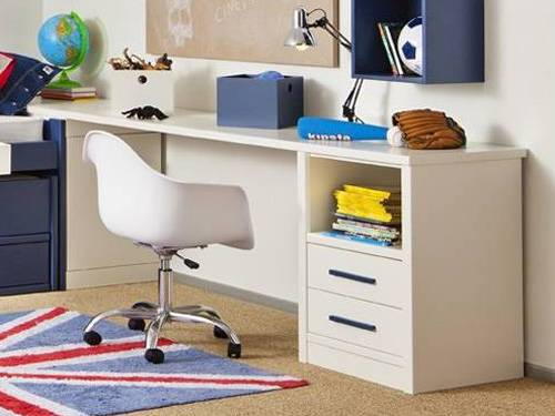 Bureau atlas 1 caisson anders paris for Bureau 75 cm largeur