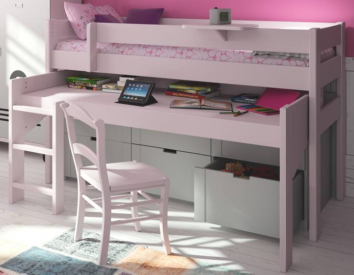 Lit mezzanine pour la chambre de votre enfant lit et meubles adolescent - Lit mezzanine quel age ...